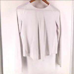 LULULEMON White Long Sleeve Shirt - beautiful back